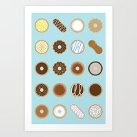 donuts Art Prints featuring Donuts by Dorothy Leigh