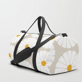Minimal Botanical Pattern - Daisies Duffle Bag