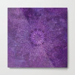 star mandala deep in the dark purple dream Metal Print