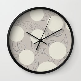 There was no flower Wall Clock