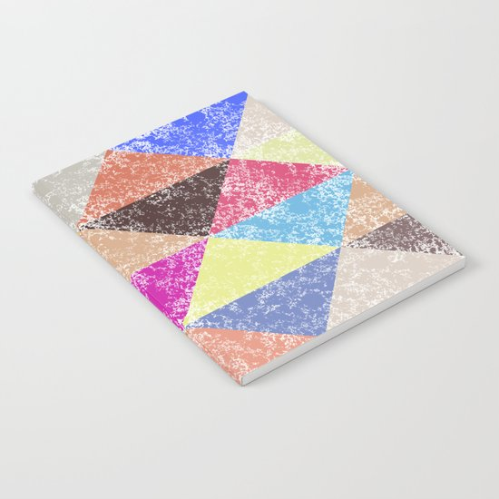 Color texture, Geometric background #2 Notebook