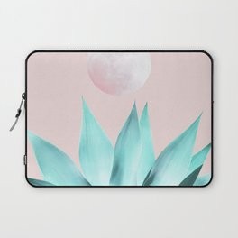 Stellar Agave and Full Moon - pastel aqua and pink Laptop Sleeve