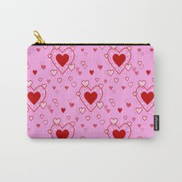 Hearts Pattern Carry-All Pouch
