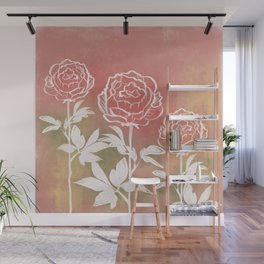 Three Peonies Wall Mural
