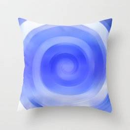 Circling in The Background Throw Pillow
