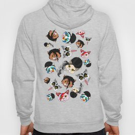 Pop Cats - Pattern on White Hoody