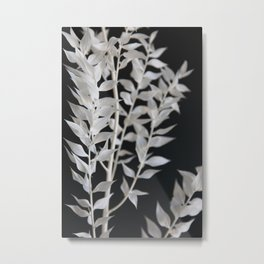 MINIMAL black & white branch - the beauty of mother nature Metal Print