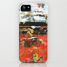 Jacksonville Orange Abstract Painting iPhone Case