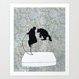 El Poinsetta Dali Art Print