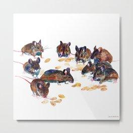 Mice Metal Print
