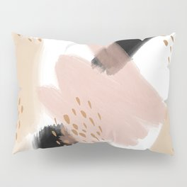 Abstract watercolor-pink, black,gold Pillow Sham