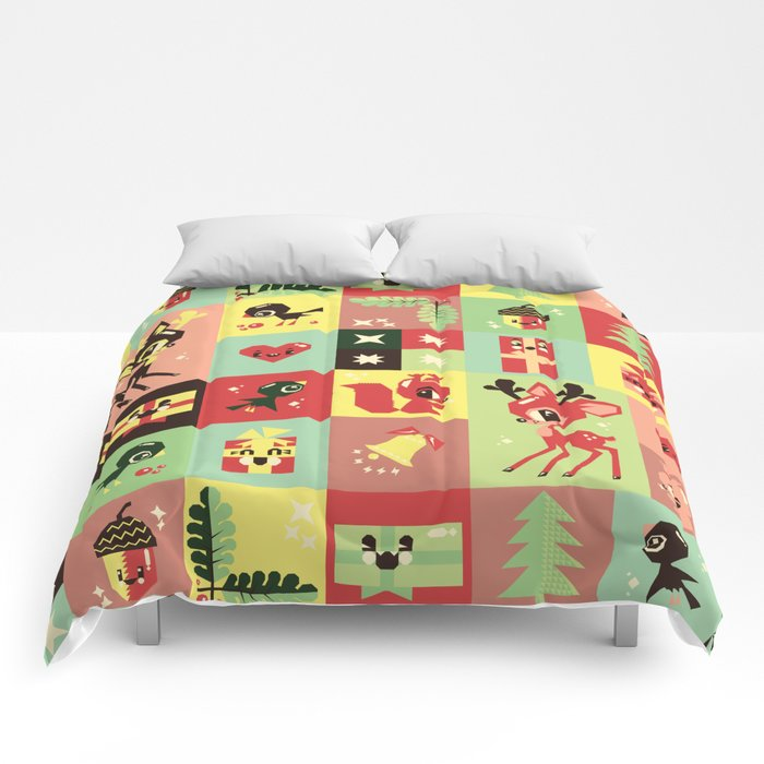 Christmas Geometric Pattern No. 2. Comforters