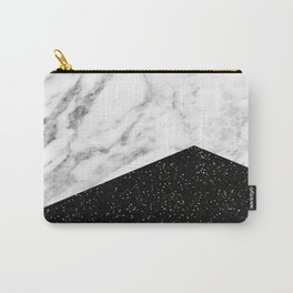 Ebony marble geo Carry-All Pouch