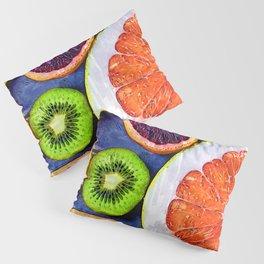 Colorful Citrus & Kiwi Club - For Fruit Lovers Pillow Sham