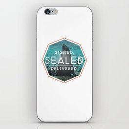 Signed Sealed Delivered iPhone Skin
