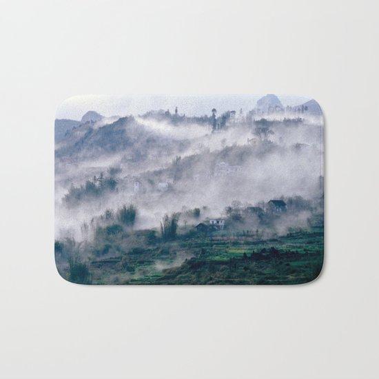 Foggy Mountain of Sa Pa in VIETNAM Bath Mat