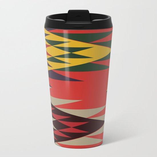 American Native Pattern No. 51 Metal Travel Mug