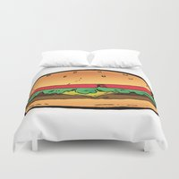 burger Duvet Covers featuring Burger by CGREDNECK