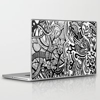 chaos Laptop & iPad Skins featuring chaos by Viyenno Design