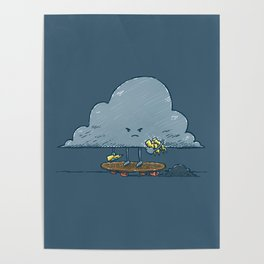 Thunder Cloud Skater Poster