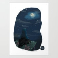 cookie monster Art Prints featuring Cookie monster by David Pavon