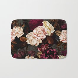 Vintage & Shabby Chic - Midnight Rose and Peony Garden Bath Mat