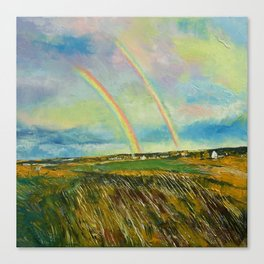 Scotland Double Rainbow Canvas Print