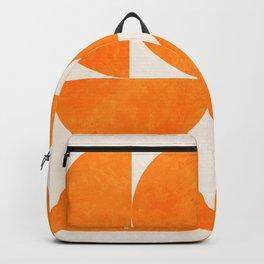 Geometric Shapes orange mid century Backpack