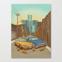 detroit Canvas Prints featuring Detroit by Cait Maloney Creative