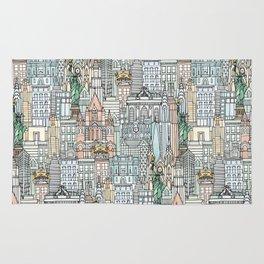 New York watercolor Rug