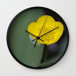 Inchworm Buttercup Wall Clock