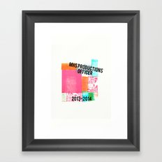 MHS Theatre Officer Shirt Framed Art Print