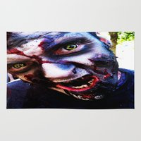 zombies Area & Throw Rugs featuring Zombies ! by bobbierachelle
