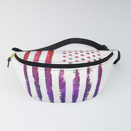 Red & blue gradient USA flag Fanny Pack