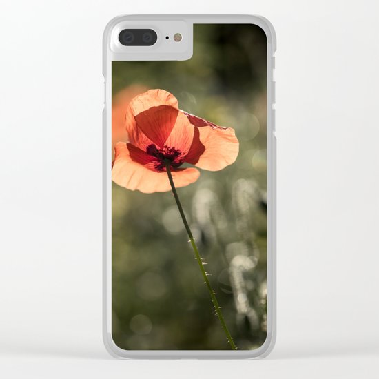 Enlightened Poppies at early backlight Clear iPhone Case