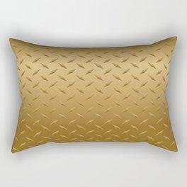 Gold Diamond Plate Rectangular Pillow