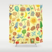 be happy Shower Curtains featuring Happy by Vladimir Stankovic