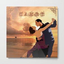 TANGO DANCE Metal Print