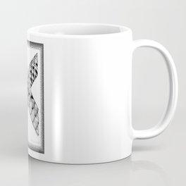 Zentangle X Monogram Alphabet Initial Coffee Mug