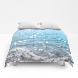 sparkling sea Comforters