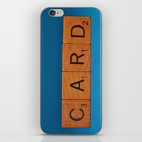 card iPhone & iPod Skins featuring Card by Beastie Toyz