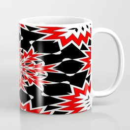 Bizarre Red Black and White Pattern 2 Coffee Mug