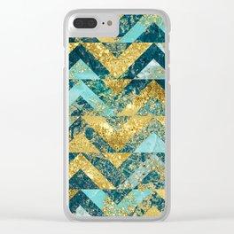 Marble Glitz Clear iPhone Case