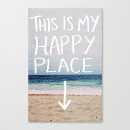 My Happy Place (Beach) Canvas Print