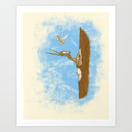 1 Flew Over the Cuckoo's Nest Art Print