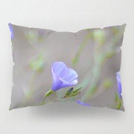 blue flowers on beige Pillow Sham