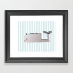 Gentleman Whale Framed Art Print