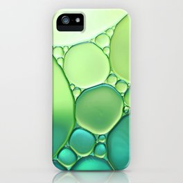 Jade Ombre Bubbles iPhone Case