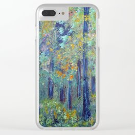 Impressionism Landscape Tree Forest, Rustic Art Home Decor Clear iPhone Case