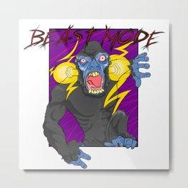 Beast Mode ver. 1 Metal Print